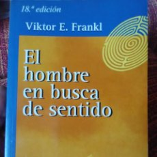 Libros antiguos: EL HOMBRE EN BUSCA DE SENTIDO.. Lote 171967787