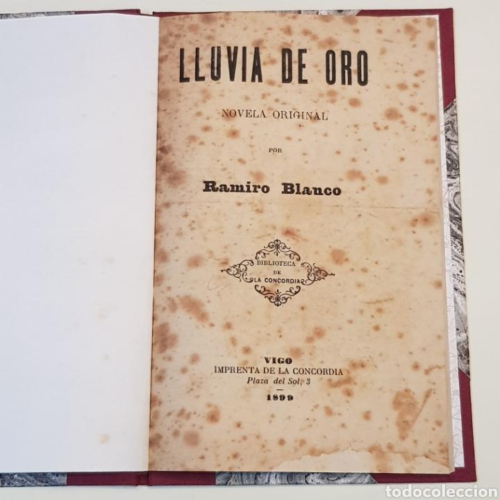 LLUVIA DE ORO - RAMIRO BLANCO - VIGO 1899 IMPRENTA LA CONCORDIA PLAZA DEL SOL 3 (Libros Antiguos, Raros y Curiosos - Literatura - Otros)