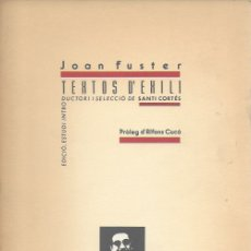 Libros antiguos: TEXTOS DE L' EXILI / JOAN FUSTER; ED. S. CORTÉS; PROL. A. CUCÓ. VALÈNCIA : GENERALITAT, 1991. 24X17. Lote 172013852