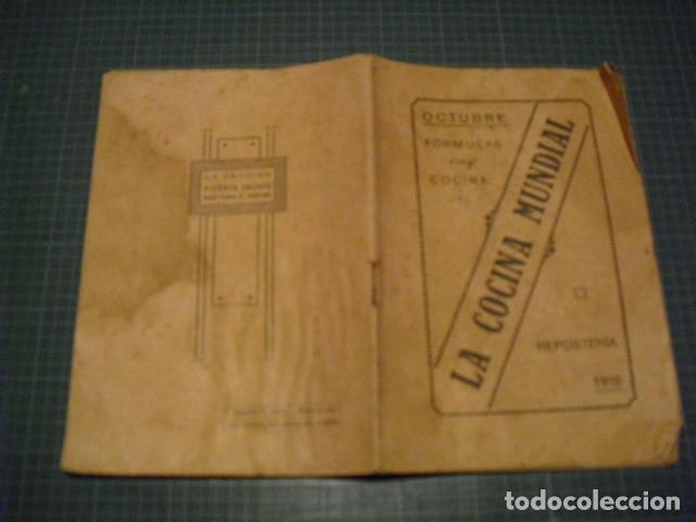 LA COCINA MUNDIAL - REPOSTERIA - OCTUBRE 1918 (Libros Antiguos, Raros y Curiosos - Cocina y Gastronomía)