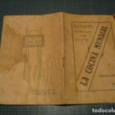 Libros antiguos: LA COCINA MUNDIAL - REPOSTERIA - OCTUBRE 1918. Lote 172064489