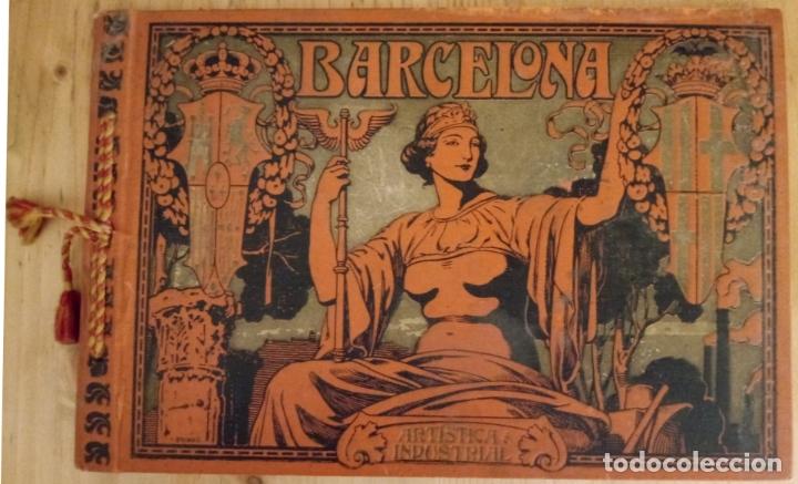 BARCELONA ARTISTICA E INDUSTRIAL - 1910 - LUJOSO ALBUM FOTOGRAFIAS RESUMEN HISTORICO DE LA CIUDAD (Libros Antiguos, Raros y Curiosos - Historia - Otros)