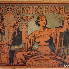Libros antiguos: BARCELONA ARTISTICA E INDUSTRIAL - 1910 - LUJOSO ALBUM FOTOGRAFIAS RESUMEN HISTORICO DE LA CIUDAD. Lote 172087968