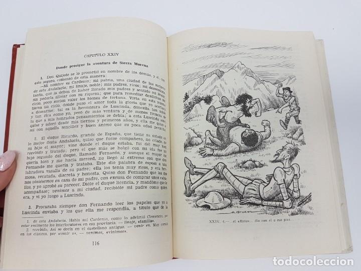Libros antiguos: DON QUIJOTE DE LA MANCHA ( 2º EDICIÓN ESCOLAR ) - Foto 4 - 172167358