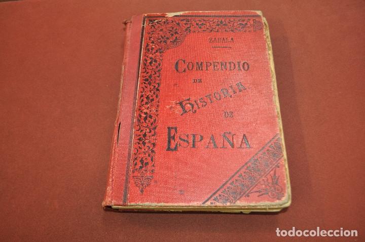 COMPENDIO DE HISTORIA DE ESPAÑA - AHUM (Libros Antiguos, Raros y Curiosos - Historia - Otros)
