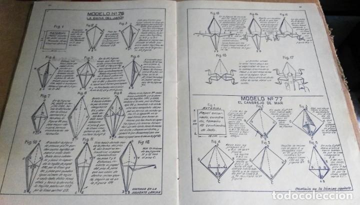 Libros antiguos: Nemesio Montero, El mundo del Papel. Trabajos manuales graduados, 1939. Papiroflexia - Foto 3 - 172241358