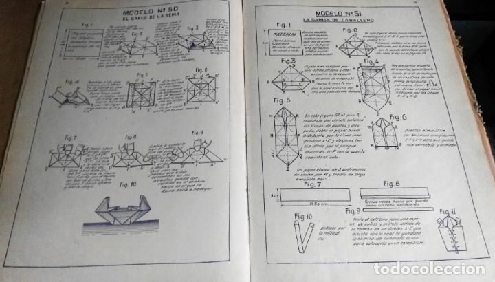 Libros antiguos: Nemesio Montero, El mundo del Papel. Trabajos manuales graduados, 1939. Papiroflexia - Foto 4 - 172241358