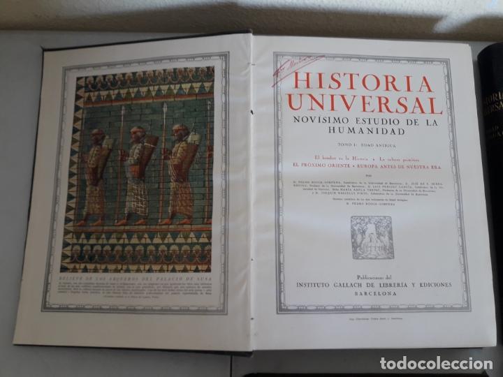 Libros antiguos: HISTORIA UNIVERSAL. NOVÍSIMO ESTUDIO DE LA HUMANIDAD. GALLACH. 6 TOMOS. AÑOS 30 - Foto 3 - 172241745