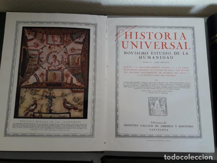 Libros antiguos: HISTORIA UNIVERSAL. NOVÍSIMO ESTUDIO DE LA HUMANIDAD. GALLACH. 6 TOMOS. AÑOS 30 - Foto 4 - 172241745