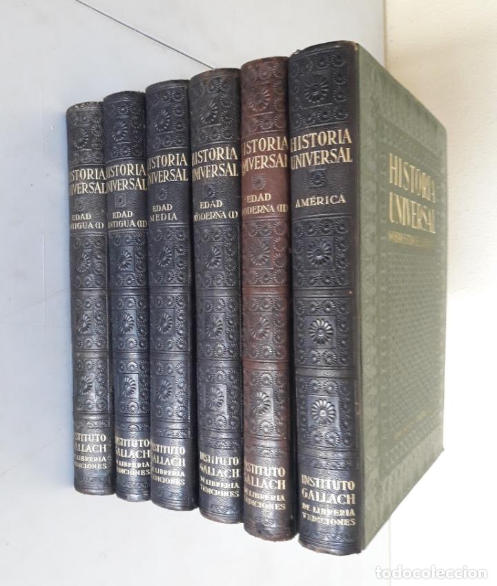 HISTORIA UNIVERSAL. NOVÍSIMO ESTUDIO DE LA HUMANIDAD. GALLACH. 6 TOMOS. AÑOS 30 (Libros Antiguos, Raros y Curiosos - Historia - Otros)