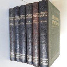 Libros antiguos: HISTORIA UNIVERSAL. NOVÍSIMO ESTUDIO DE LA HUMANIDAD. GALLACH. 6 TOMOS. AÑOS 30. Lote 172241745