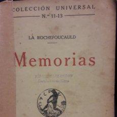 Libros antiguos: COLECCION UNIVERSAL 1919 MEMORIAS. Lote 172253578