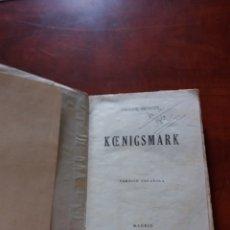 Libros antiguos: KOENIGSMARK PIERRE BENOIT 1938. Lote 172332449
