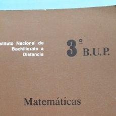Libros antiguos: INBAD 3 BUP MATEMATICAS. Lote 191450002