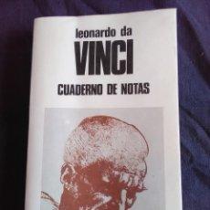 Livres anciens: LEONARDO DA VINCI CUADERNO DE NOTAS. Lote 172388060