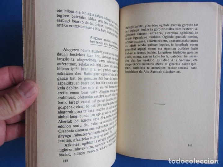 Libros antiguos: Gizarte-Auzia. Eguzkitza´tar Jon Zornotza 1935 Gizarte-ikaskuntzarako idazti-sorta - Foto 4 - 172409222