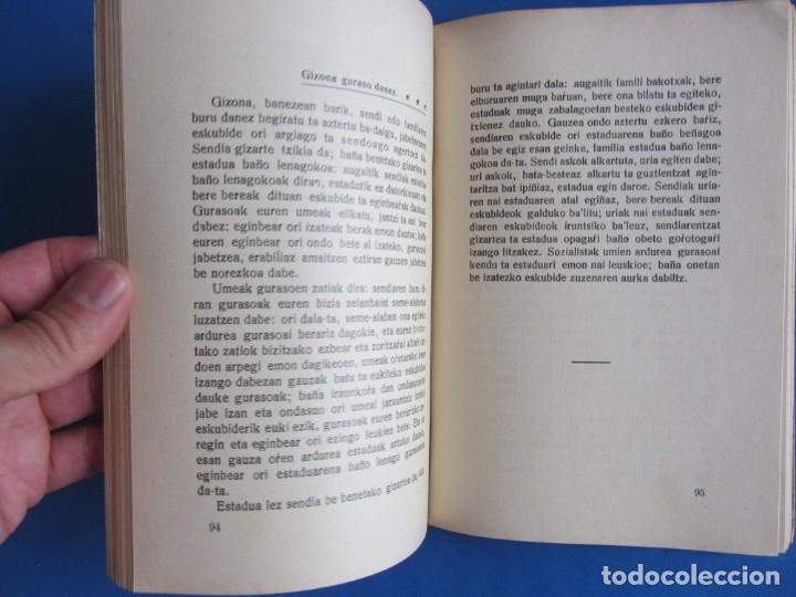 Libros antiguos: Gizarte-Auzia. Eguzkitza´tar Jon Zornotza 1935 Gizarte-ikaskuntzarako idazti-sorta - Foto 5 - 172409222