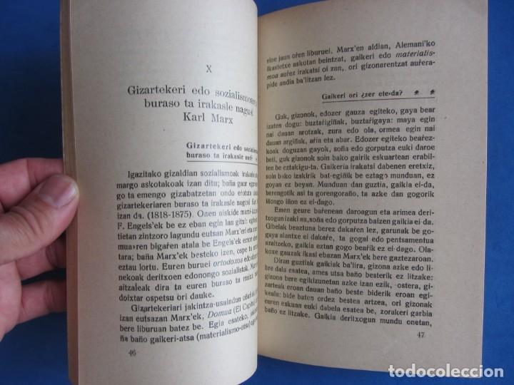 Libros antiguos: Gizarte-Auzia. Eguzkitza´tar Jon Zornotza 1935 Gizarte-ikaskuntzarako idazti-sorta - Foto 6 - 172409222