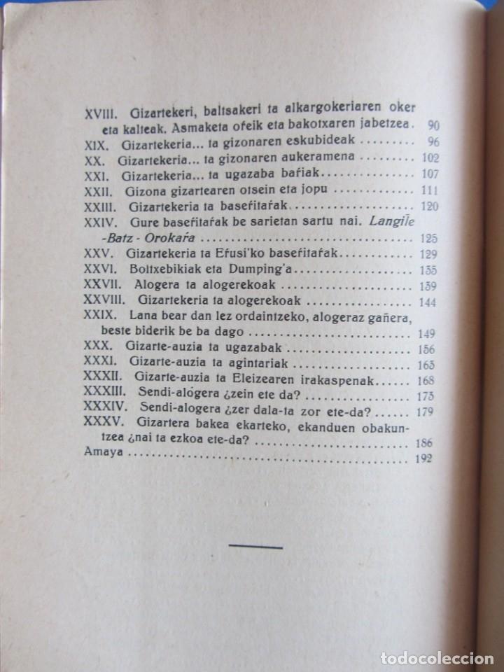 Libros antiguos: Gizarte-Auzia. Eguzkitza´tar Jon Zornotza 1935 Gizarte-ikaskuntzarako idazti-sorta - Foto 9 - 172409222