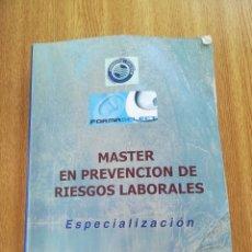 Libros antiguos: MÁSTER EN PREVENCIÓN DE RIESGOS LABORALES. Lote 172571497