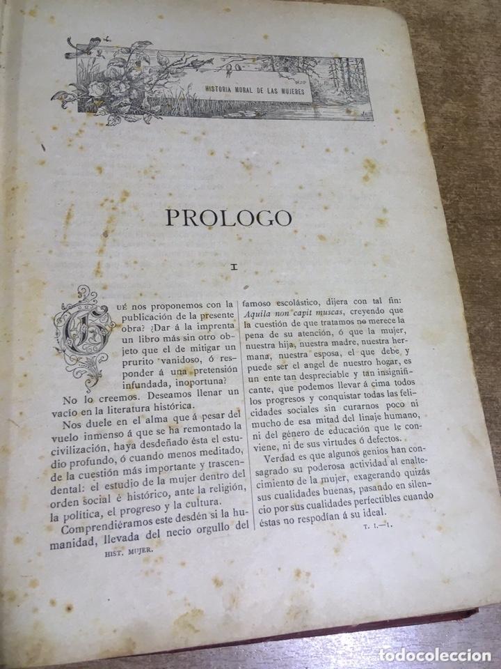 Libros antiguos: EL BELLO SEXO VINDICADO - HISTORIA MORAL DE LAS MUJERES - FRANCISCO NACENTE - 2 TOMOS 1890 ca 1ªEd. - Foto 7 - 172615752