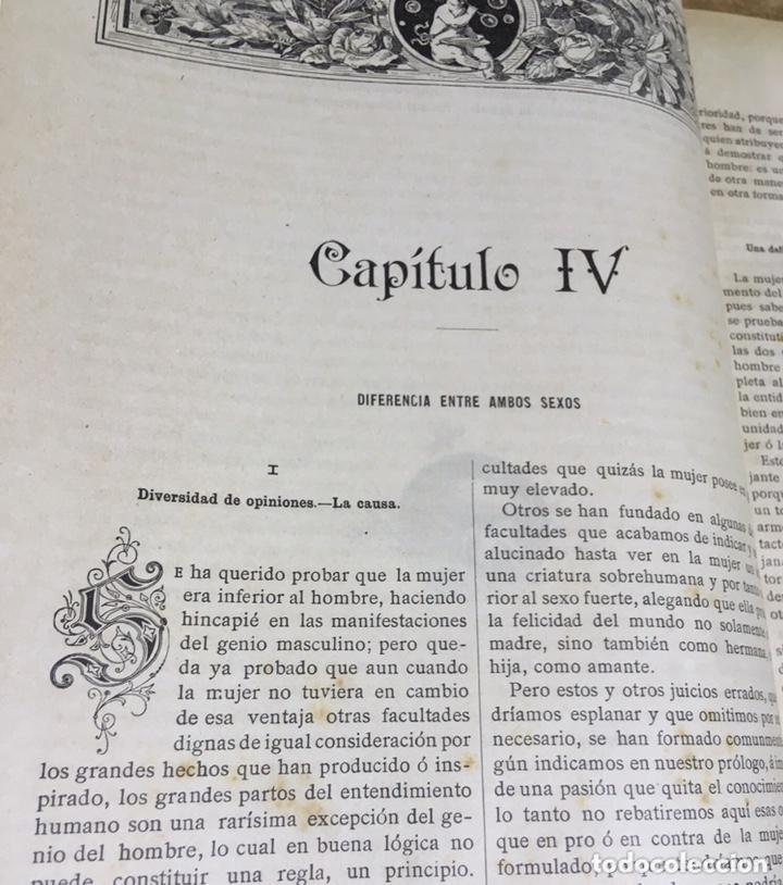 Libros antiguos: EL BELLO SEXO VINDICADO - HISTORIA MORAL DE LAS MUJERES - FRANCISCO NACENTE - 2 TOMOS 1890 ca 1ªEd. - Foto 10 - 172615752