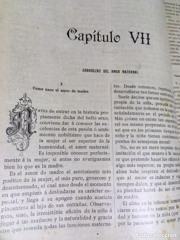 Libros antiguos: EL BELLO SEXO VINDICADO - HISTORIA MORAL DE LAS MUJERES - FRANCISCO NACENTE - 2 TOMOS 1890 ca 1ªEd. - Foto 12 - 172615752