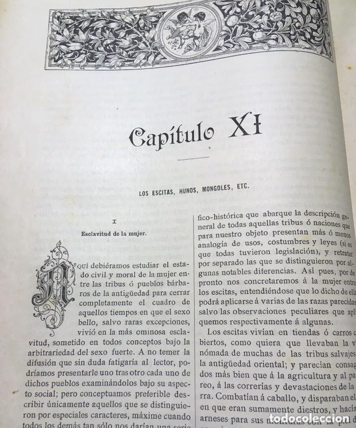 Libros antiguos: EL BELLO SEXO VINDICADO - HISTORIA MORAL DE LAS MUJERES - FRANCISCO NACENTE - 2 TOMOS 1890 ca 1ªEd. - Foto 16 - 172615752