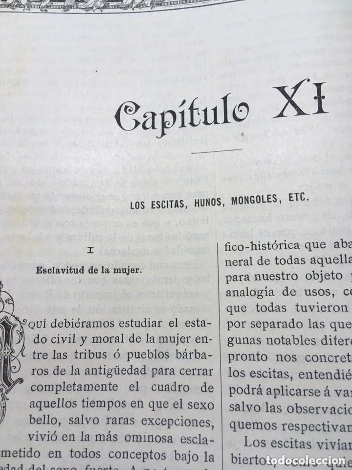 Libros antiguos: EL BELLO SEXO VINDICADO - HISTORIA MORAL DE LAS MUJERES - FRANCISCO NACENTE - 2 TOMOS 1890 ca 1ªEd. - Foto 17 - 172615752