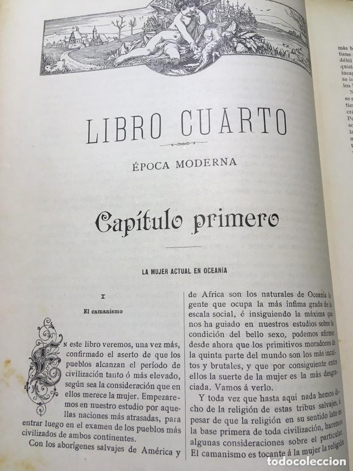 Libros antiguos: EL BELLO SEXO VINDICADO - HISTORIA MORAL DE LAS MUJERES - FRANCISCO NACENTE - 2 TOMOS 1890 ca 1ªEd. - Foto 25 - 172615752