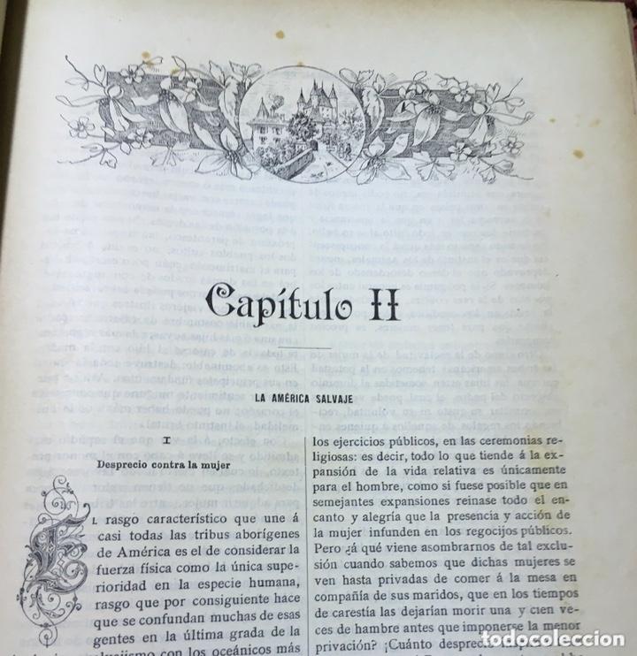 Libros antiguos: EL BELLO SEXO VINDICADO - HISTORIA MORAL DE LAS MUJERES - FRANCISCO NACENTE - 2 TOMOS 1890 ca 1ªEd. - Foto 26 - 172615752