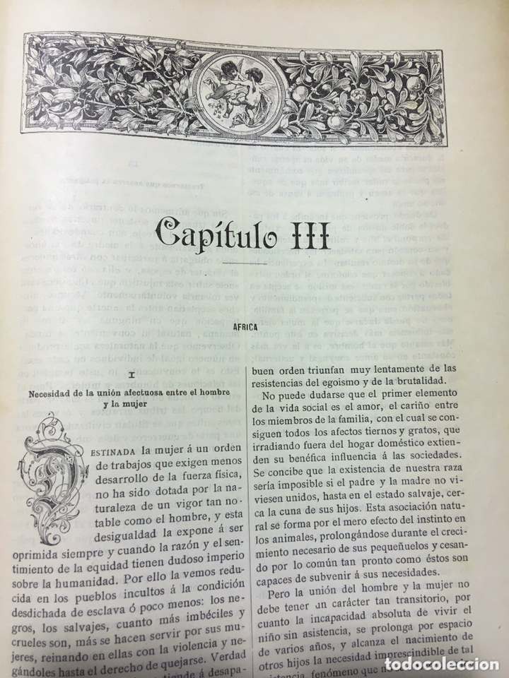 Libros antiguos: EL BELLO SEXO VINDICADO - HISTORIA MORAL DE LAS MUJERES - FRANCISCO NACENTE - 2 TOMOS 1890 ca 1ªEd. - Foto 27 - 172615752