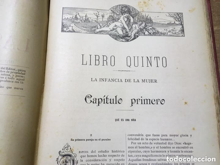 Libros antiguos: EL BELLO SEXO VINDICADO - HISTORIA MORAL DE LAS MUJERES - FRANCISCO NACENTE - 2 TOMOS 1890 ca 1ªEd. - Foto 33 - 172615752