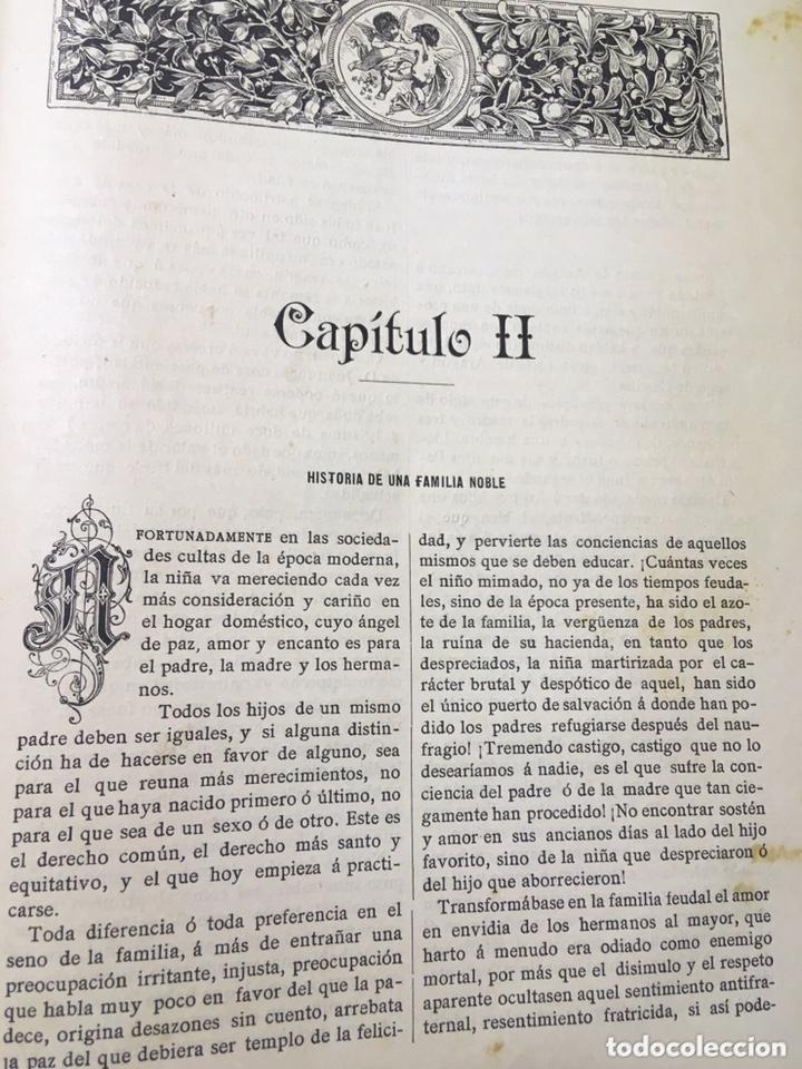 Libros antiguos: EL BELLO SEXO VINDICADO - HISTORIA MORAL DE LAS MUJERES - FRANCISCO NACENTE - 2 TOMOS 1890 ca 1ªEd. - Foto 34 - 172615752