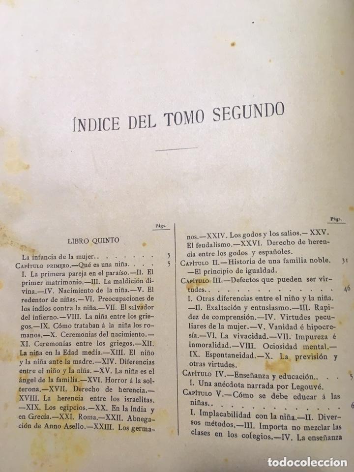 Libros antiguos: EL BELLO SEXO VINDICADO - HISTORIA MORAL DE LAS MUJERES - FRANCISCO NACENTE - 2 TOMOS 1890 ca 1ªEd. - Foto 39 - 172615752