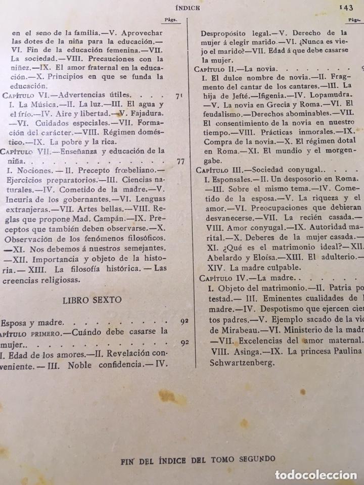 Libros antiguos: EL BELLO SEXO VINDICADO - HISTORIA MORAL DE LAS MUJERES - FRANCISCO NACENTE - 2 TOMOS 1890 ca 1ªEd. - Foto 40 - 172615752