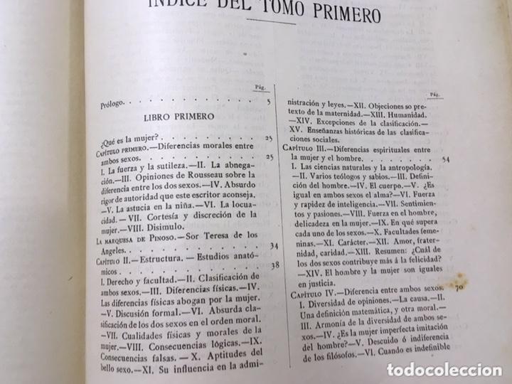Libros antiguos: EL BELLO SEXO VINDICADO - HISTORIA MORAL DE LAS MUJERES - FRANCISCO NACENTE - 2 TOMOS 1890 ca 1ªEd. - Foto 42 - 172615752