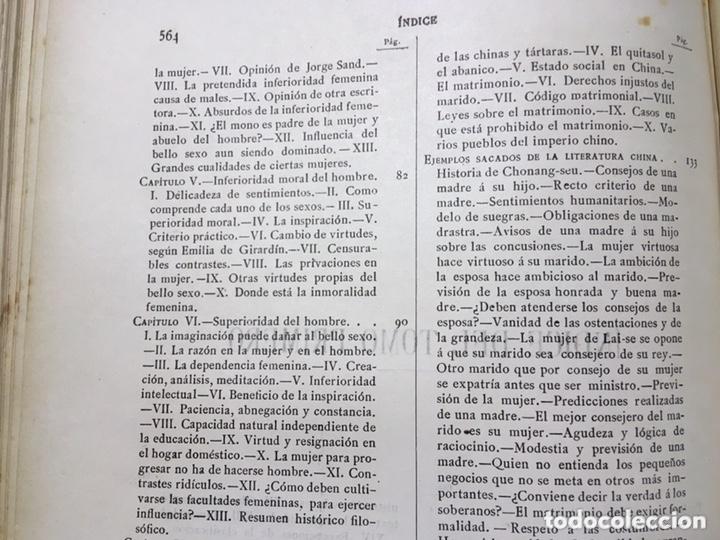 Libros antiguos: EL BELLO SEXO VINDICADO - HISTORIA MORAL DE LAS MUJERES - FRANCISCO NACENTE - 2 TOMOS 1890 ca 1ªEd. - Foto 43 - 172615752