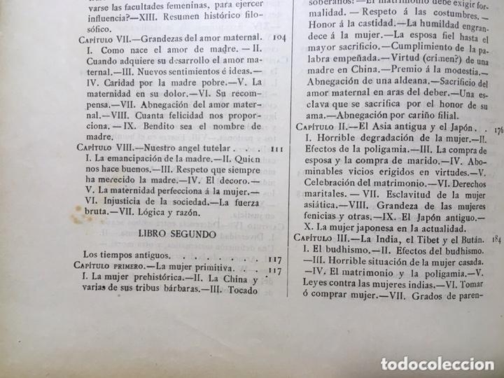 Libros antiguos: EL BELLO SEXO VINDICADO - HISTORIA MORAL DE LAS MUJERES - FRANCISCO NACENTE - 2 TOMOS 1890 ca 1ªEd. - Foto 44 - 172615752
