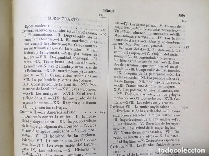 Libros antiguos: EL BELLO SEXO VINDICADO - HISTORIA MORAL DE LAS MUJERES - FRANCISCO NACENTE - 2 TOMOS 1890 ca 1ªEd. - Foto 49 - 172615752
