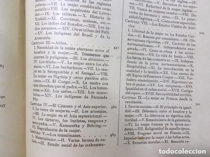 Libros antiguos: EL BELLO SEXO VINDICADO - HISTORIA MORAL DE LAS MUJERES - FRANCISCO NACENTE - 2 TOMOS 1890 ca 1ªEd. - Foto 50 - 172615752