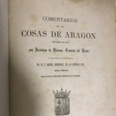 Libros antiguos: COMENTARIOS DE LAS COSAS DE ARAGON. 1878. OBRA ESCRITA EN LATÍN POR JERÓNIMO DE BLANCAS. Lote 172645430