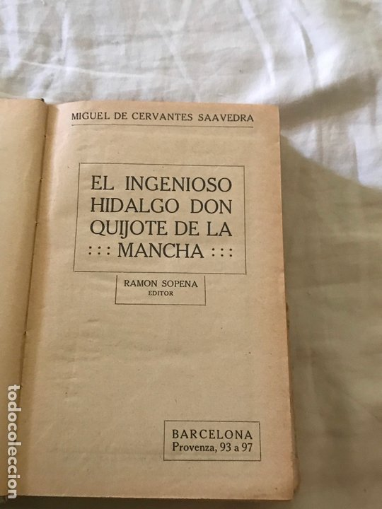 Libros antiguos: Don Quijote de la Mancha. Cervantes. Ed. Ramon Sopena. - Foto 2 - 172655145