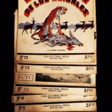 Libros antiguos: DIFICIIL EL MARAVILLOSO MUNDO DE LOS ANIMALES ANTONIO GUARDIOLA FASCÍCULOS EDITORIAL SEGUI. Lote 172658838