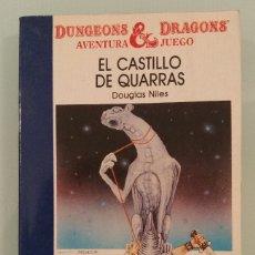 Libros antiguos: DUNGEONS & DRAGONS AVENTURA JUEGO 2 EL CASTILLO DE QUARRAS TIMUN MAS LIBROJUEGO. Lote 172739230