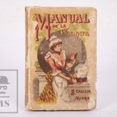Libros antiguos: ANTIGUO LIBRO ILUSTRADO - MANUAL DE LA COCINERA. BIBLIOTECA POPULAR XXXVI - SATURNINO CALLEJA, 1876. Lote 172823164