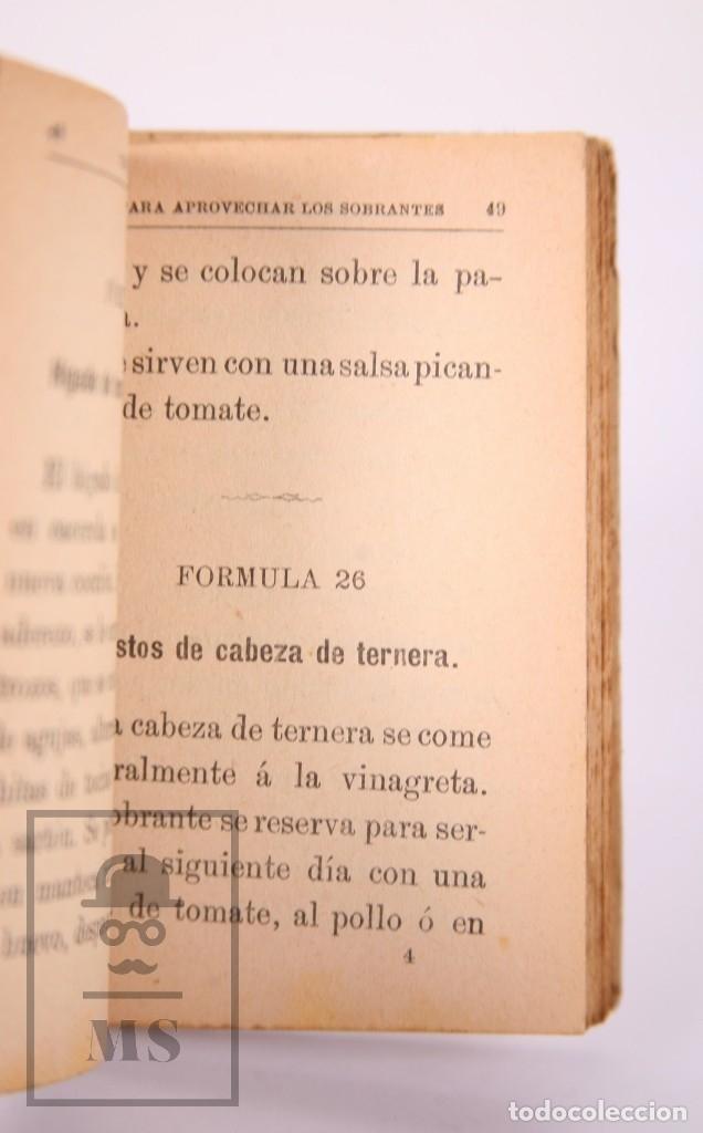 Libros antiguos: Libro 100 Fórmulas para Aprovechar Sobrantes de Viandas. Biblioteca Popular XIX - S. Calleja, S. XIX - Foto 5 - 172823765