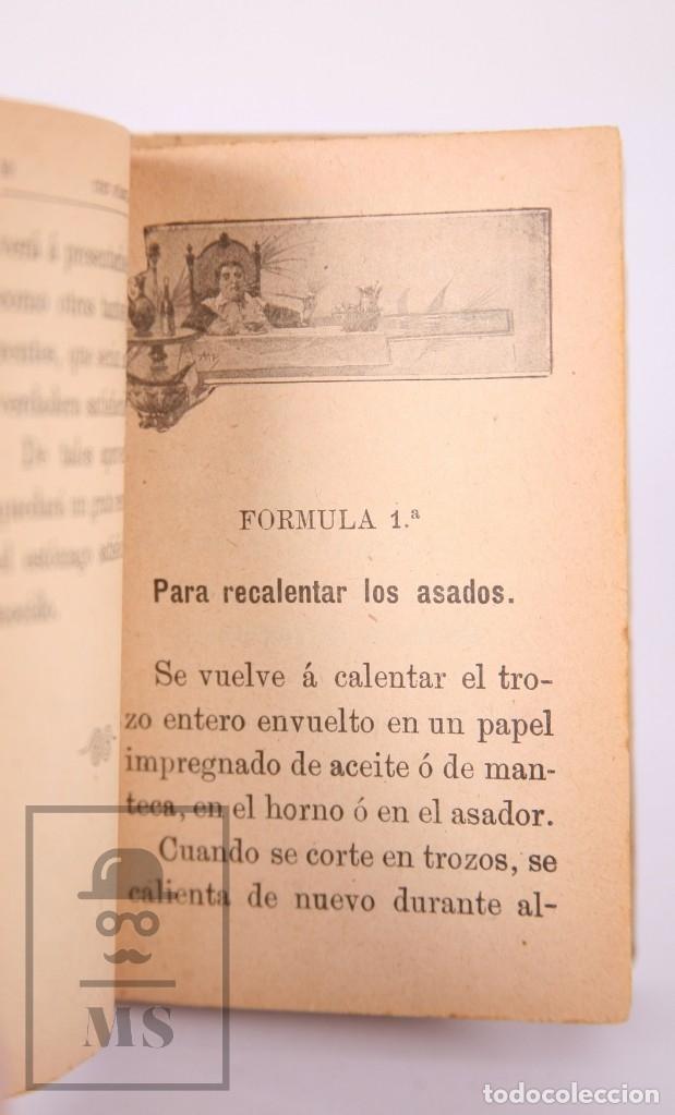 Libros antiguos: Libro 100 Fórmulas para Aprovechar Sobrantes de Viandas. Biblioteca Popular XIX - S. Calleja, S. XIX - Foto 6 - 172823765
