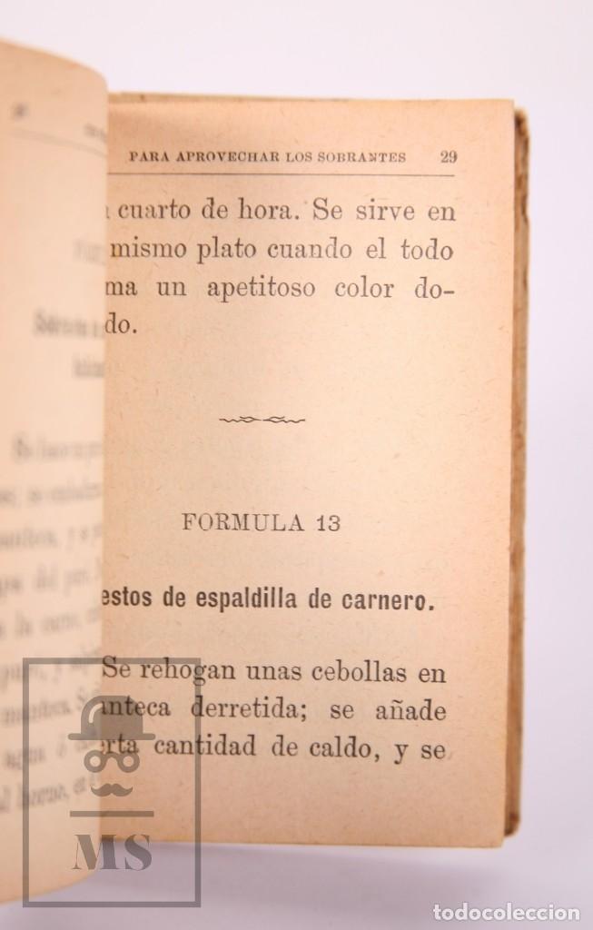 Libros antiguos: Libro 100 Fórmulas para Aprovechar Sobrantes de Viandas. Biblioteca Popular XIX - S. Calleja, S. XIX - Foto 7 - 172823765