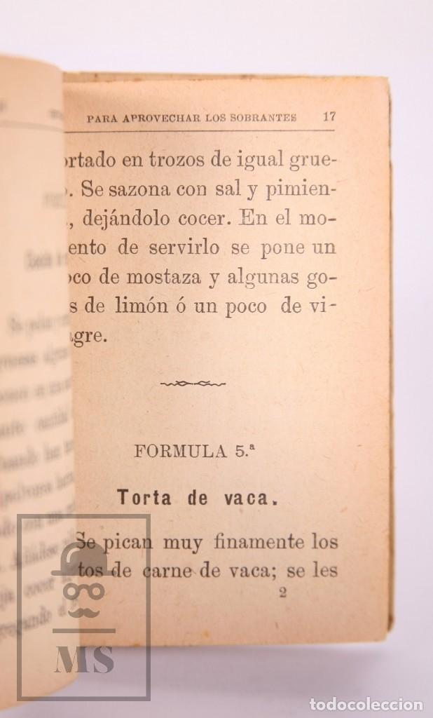Libros antiguos: Libro 100 Fórmulas para Aprovechar Sobrantes de Viandas. Biblioteca Popular XIX - S. Calleja, S. XIX - Foto 8 - 172823765